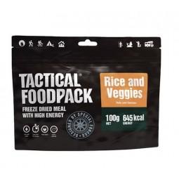 Riz aux legumes, repas lyophilisé tacticalfoodpack