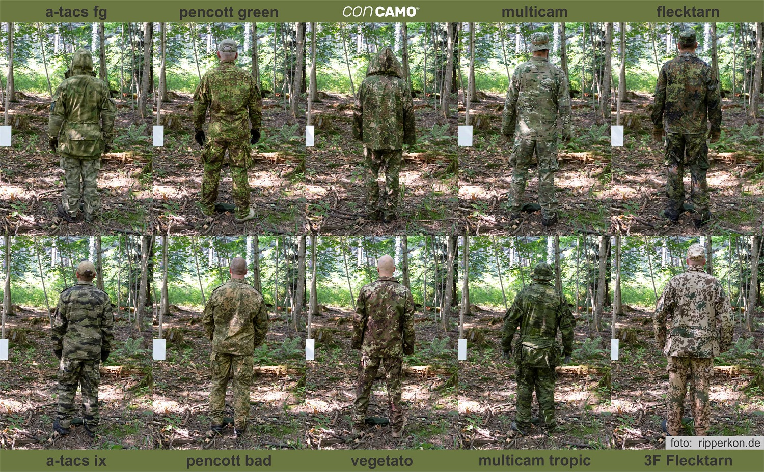 comparatif camouflages